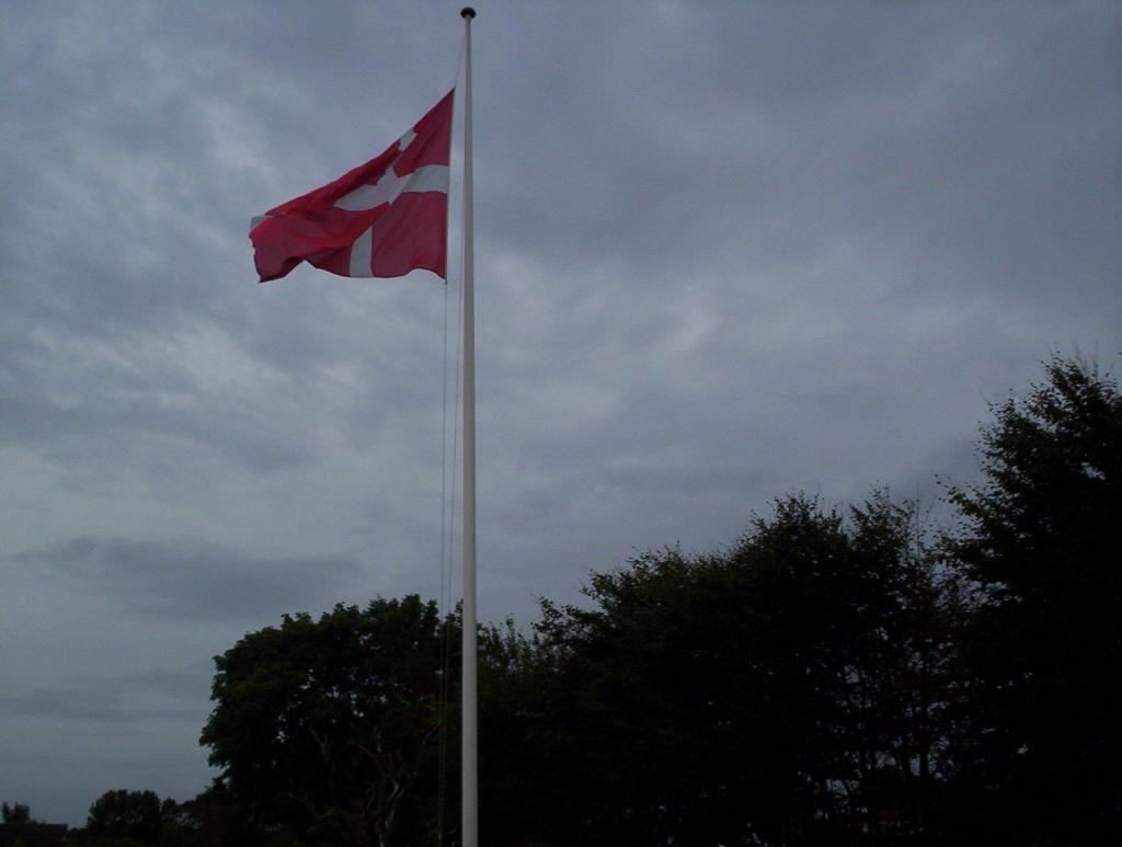 Flaget tages